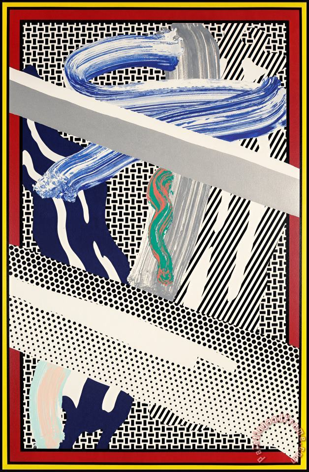 Reflections on Expressionist Paintings, 1991 painting - Roy Lichtenstein Reflections on Expressionist Paintings, 1991 Art Print