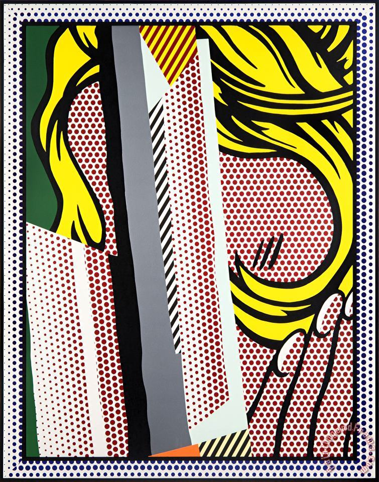 Reflections on Hair, From Reflections Series, 1990 painting - Roy Lichtenstein Reflections on Hair, From Reflections Series, 1990 Art Print