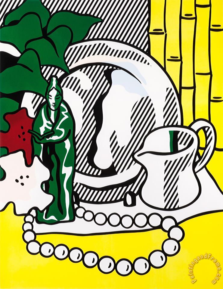 Still Life with Figurine (from The Six Still Lifes Series), 1974 painting - Roy Lichtenstein Still Life with Figurine (from The Six Still Lifes Series), 1974 Art Print