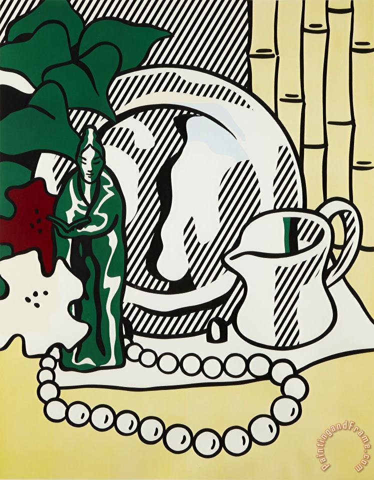 Still Life with Figurine, From Six Still Lifes, 1974 painting - Roy Lichtenstein Still Life with Figurine, From Six Still Lifes, 1974 Art Print