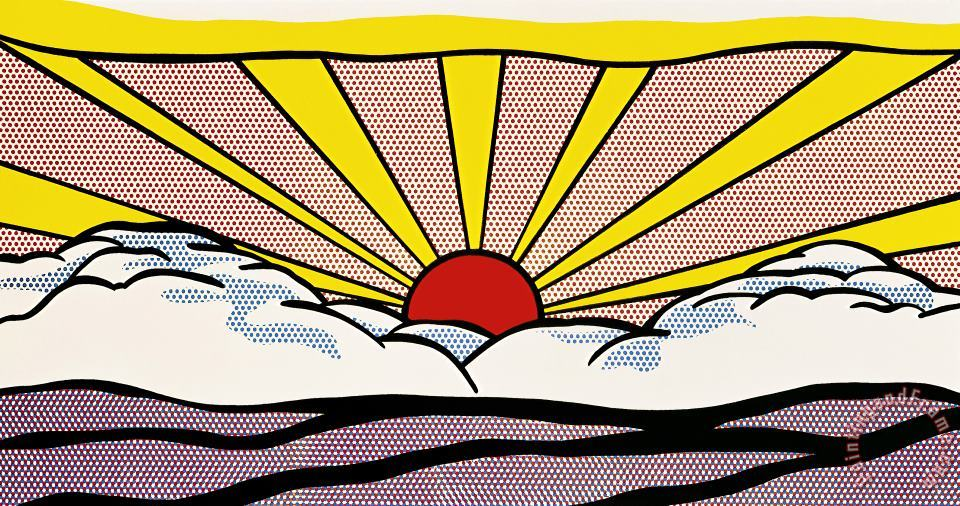 Roy Lichtenstein Sunrise C 1965 Art Print