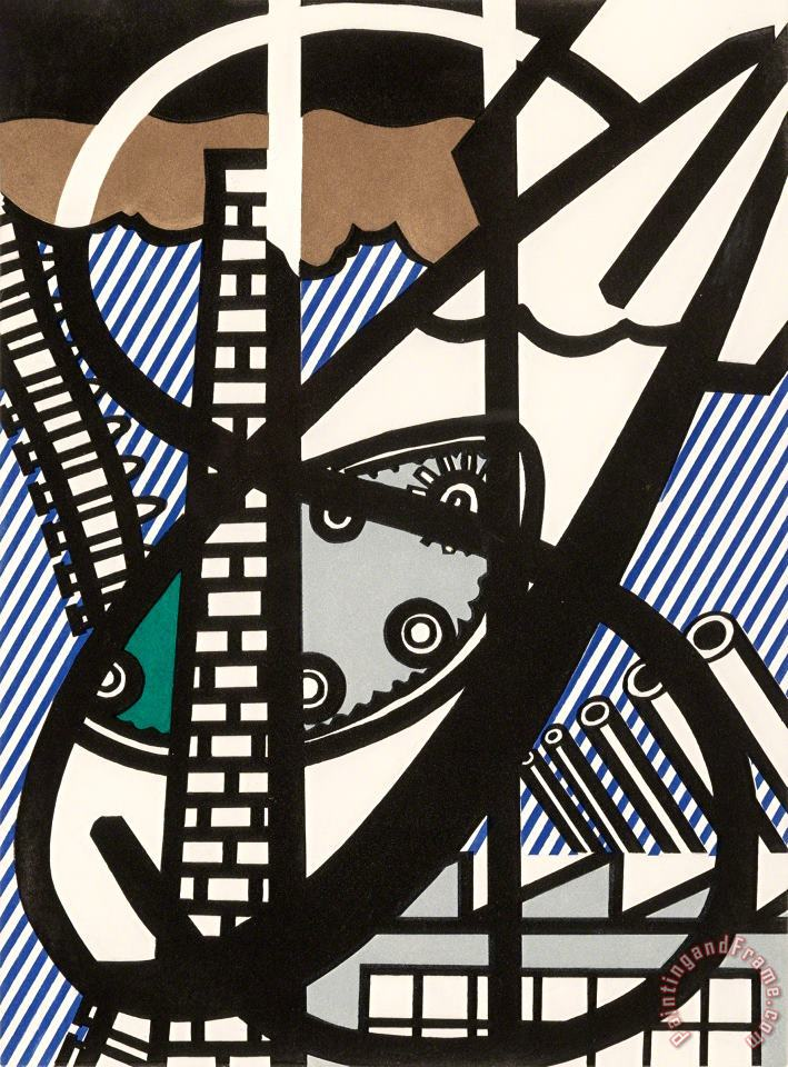 Windown Open on Chicago, 1992 painting - Roy Lichtenstein Windown Open on Chicago, 1992 Art Print