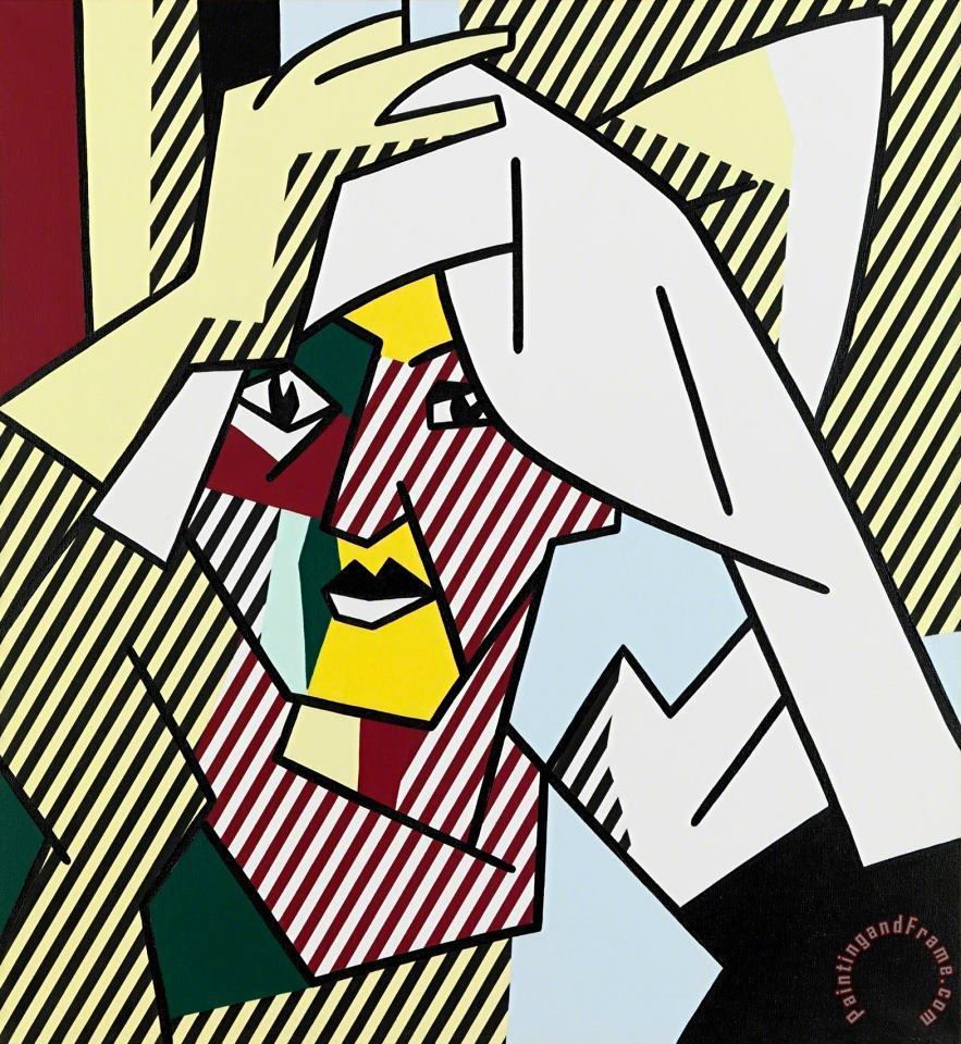 Woman Drying Her Hair, 1980 painting - Roy Lichtenstein Woman Drying Her Hair, 1980 Art Print