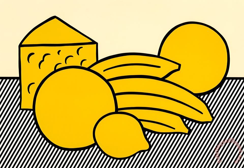 Roy Lichtenstein Yellow Still Life, From The Six Still Lifes Portfolio, 1974 Art Print