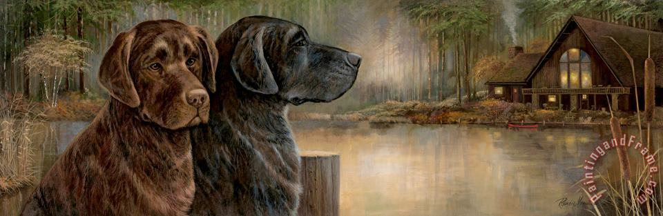 Loyal Companion painting - Ruane Manning Loyal Companion Art Print