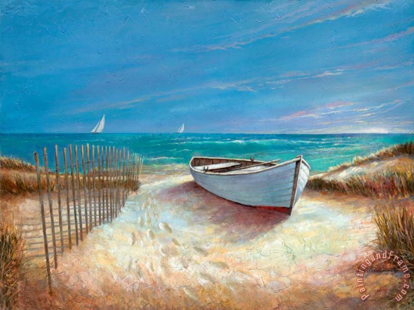 Ruane Manning Ocean Breeze Painting Ocean Breeze Print For Sale