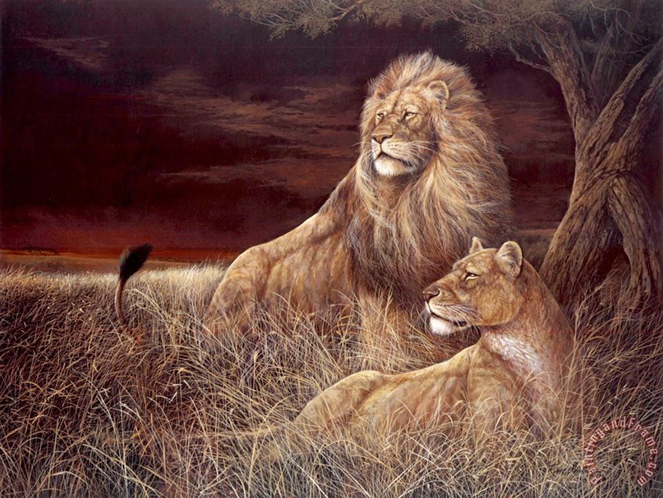 Winds of The Serengeti painting - Ruane Manning Winds of The Serengeti Art Print