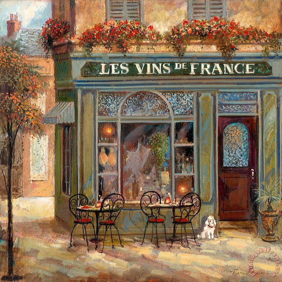 Wine Shop painting - Ruane Manning Wine Shop Art Print