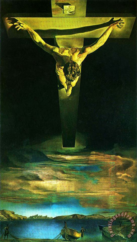 Christ of St John of The Cross 1951 painting - Salvador Dali Christ of St John of The Cross 1951 Art Print