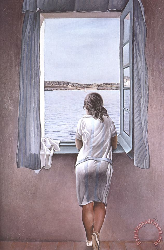 Figure at a Window painting - Salvador Dali Figure at a Window Art Print