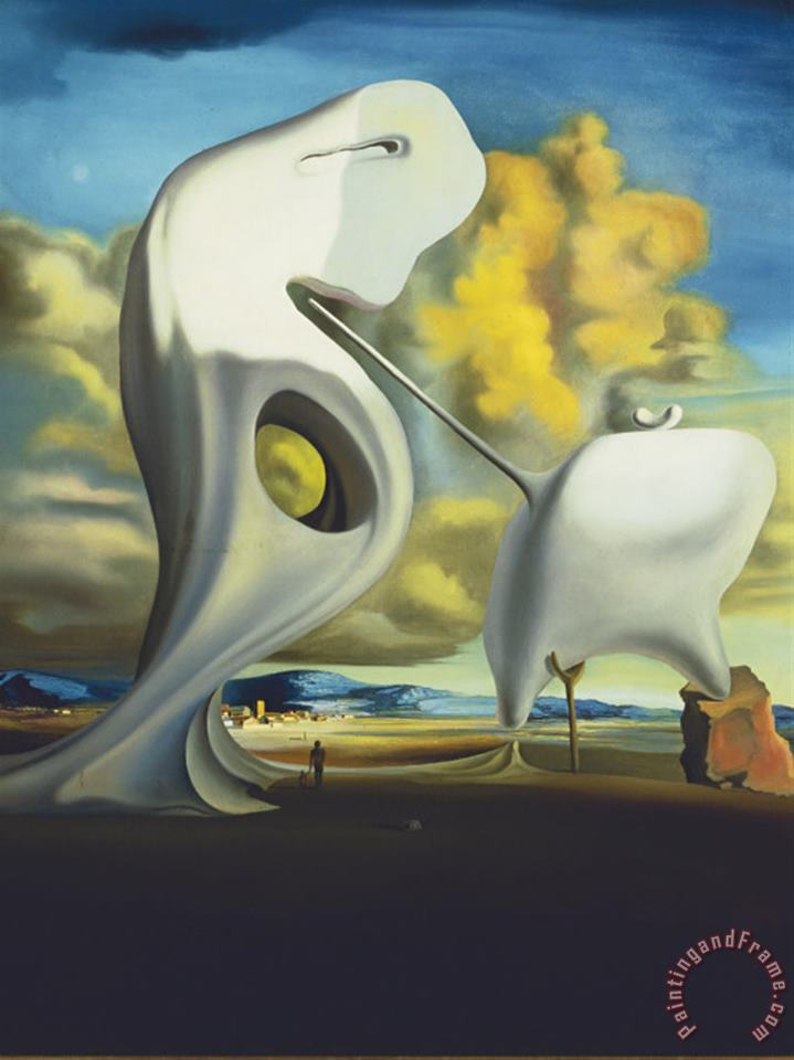 The Architectonic Angelus 1933 painting - Salvador Dali The Architectonic Angelus 1933 Art Print