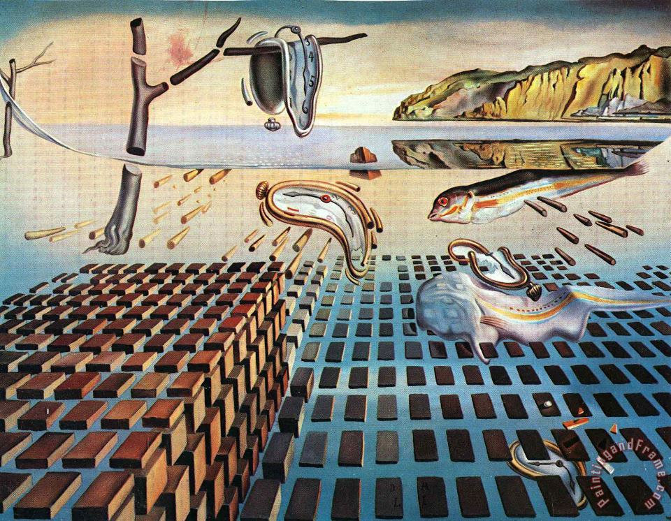 Salvador Dali The Disintegration of The Persistence of Memory Art Print