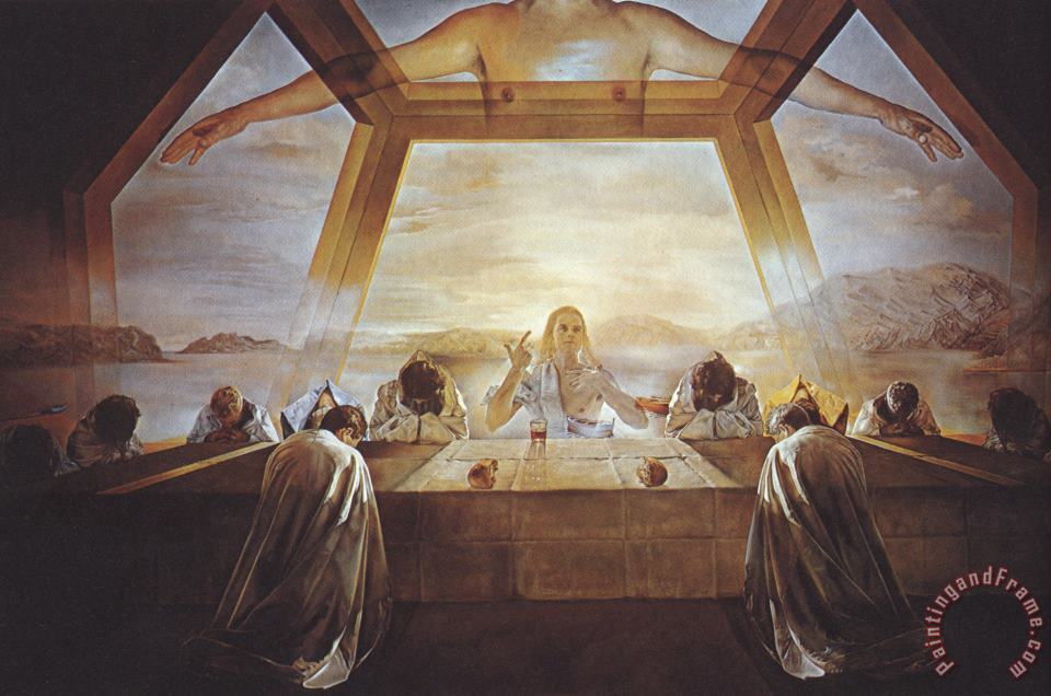 The Sacrament of The Last Supper 1955 painting - Salvador Dali The Sacrament of The Last Supper 1955 Art Print