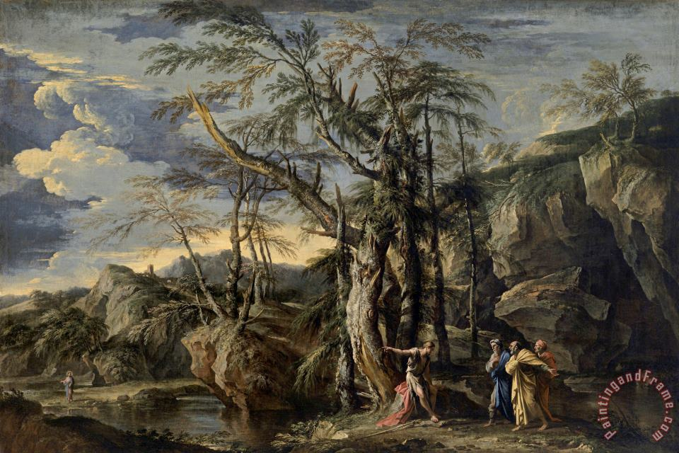St John The Baptist Revealing Christ to The Disciples painting - Salvator Rosa St John The Baptist Revealing Christ to The Disciples Art Print
