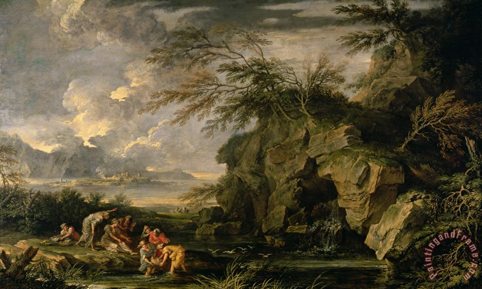 Salvator Rosa The Finding of Moses Art Print