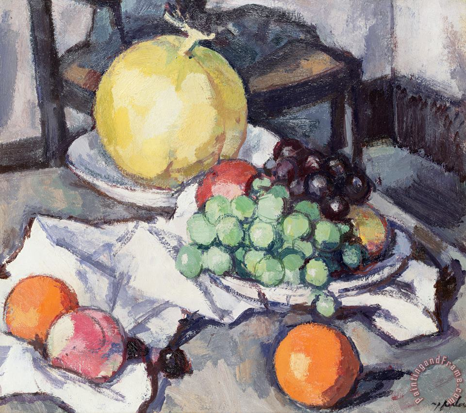 Samuel John Peploe Still Life with Melons and Grapes Art Painting