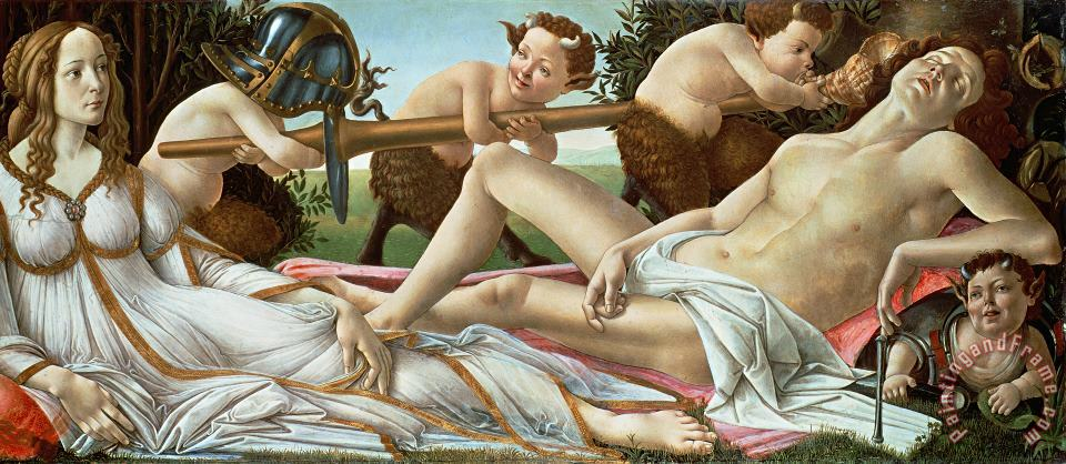 Venus and Mars painting - Sandro Botticelli Venus and Mars Art Print