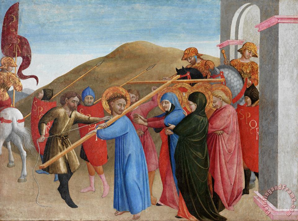 The Procession To Calvary painting - Sassetta The Procession To Calvary Art Print