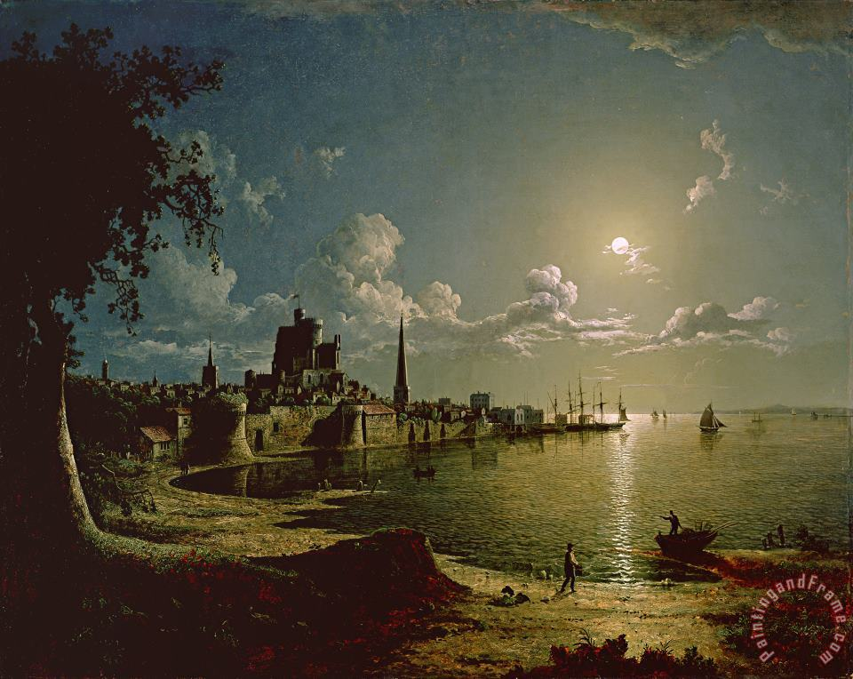 Moonlight Scene painting - Sebastian Pether Moonlight Scene Art Print