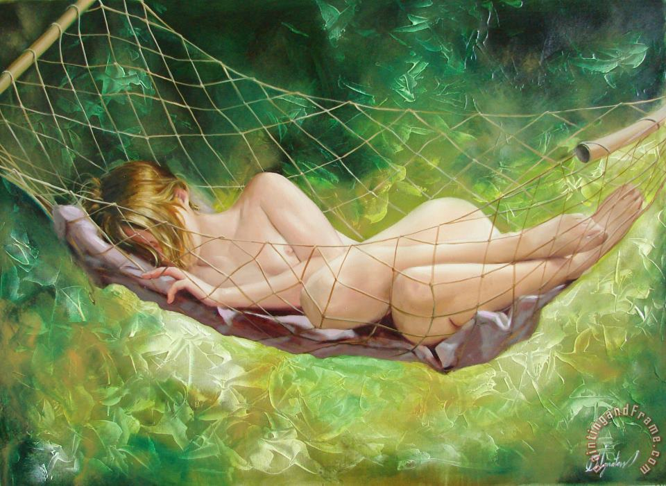 Sergey Ignatenko The dream in summer garden Art Print