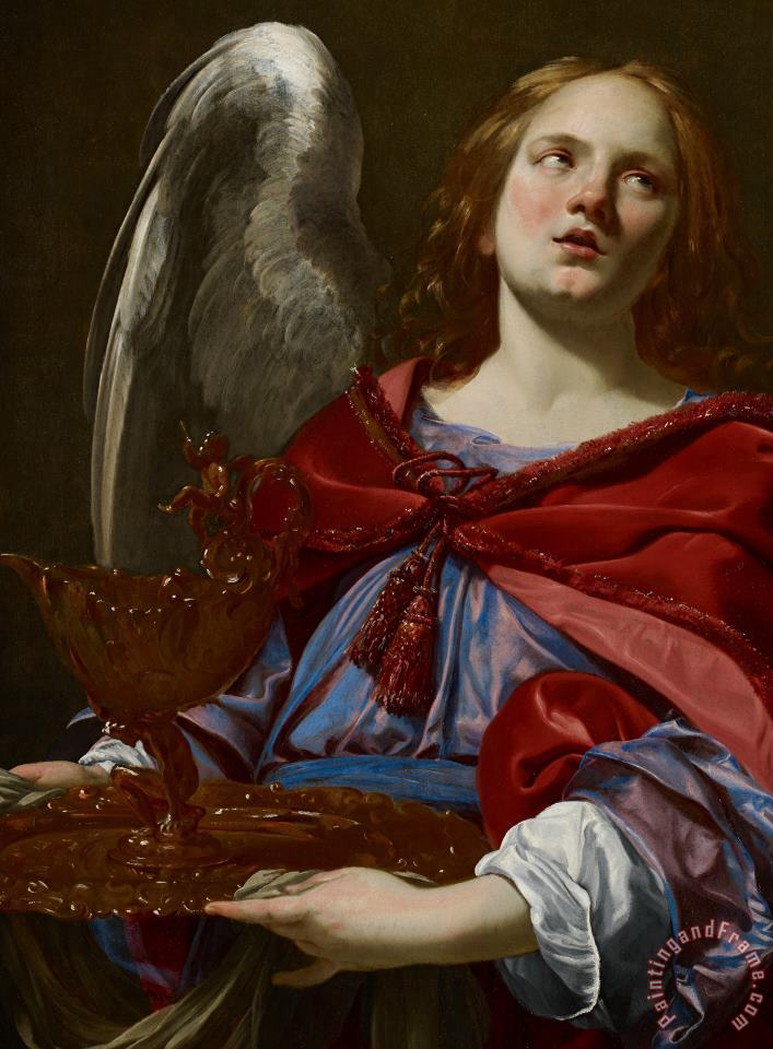 Simon Vouet Angel With Attributes Of The Passion Art Painting