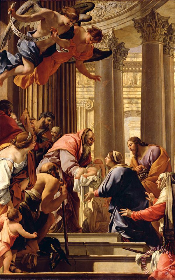 Presentation in the Temple painting - Simon Vouet Presentation in the Temple Art Print