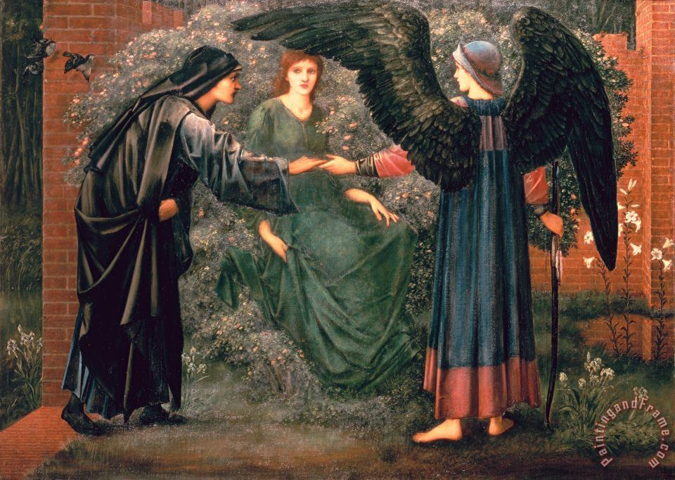 Heart of the Rose painting - Sir Edward Burne-Jones Heart of the Rose Art Print