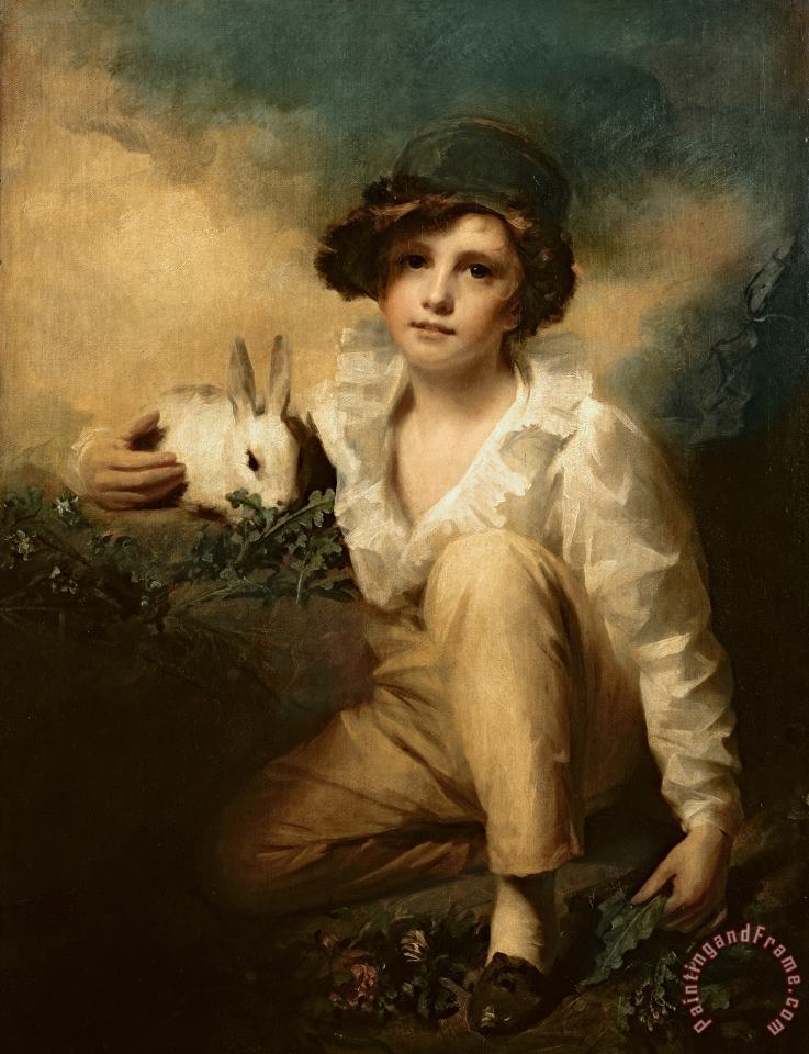 Boy and Rabbit painting - Sir Henry Raeburn Boy and Rabbit Art Print