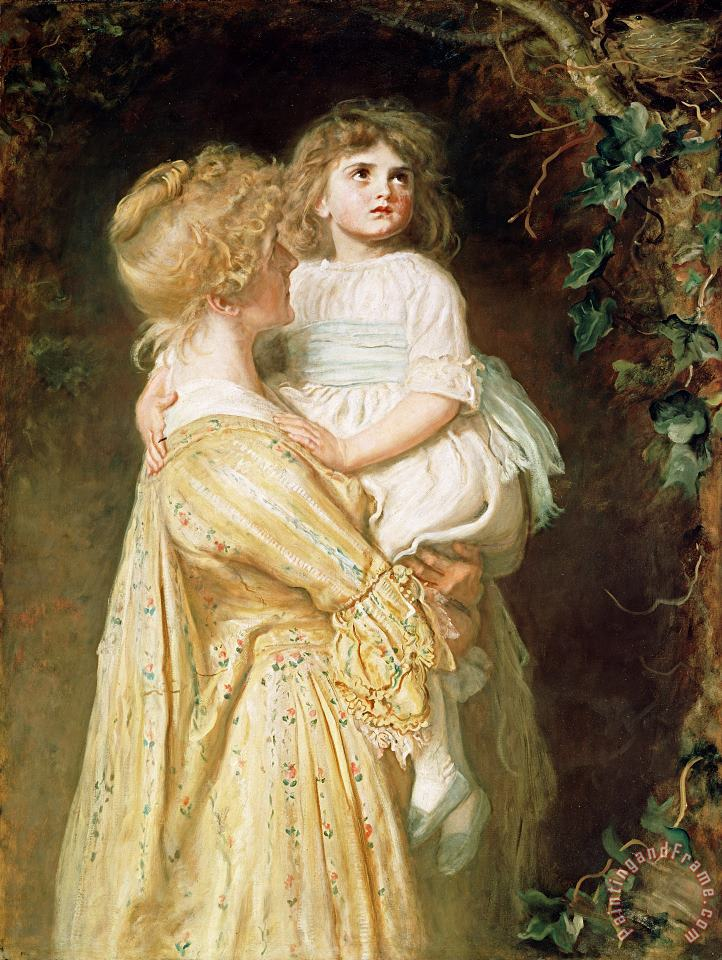 The Nest painting - Sir John Everett Millais The Nest Art Print