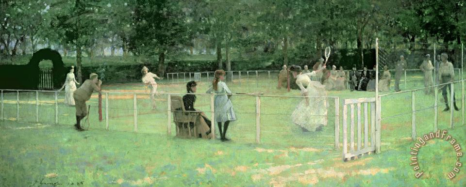 Sir John Lavery The Tennis Party Art Painting