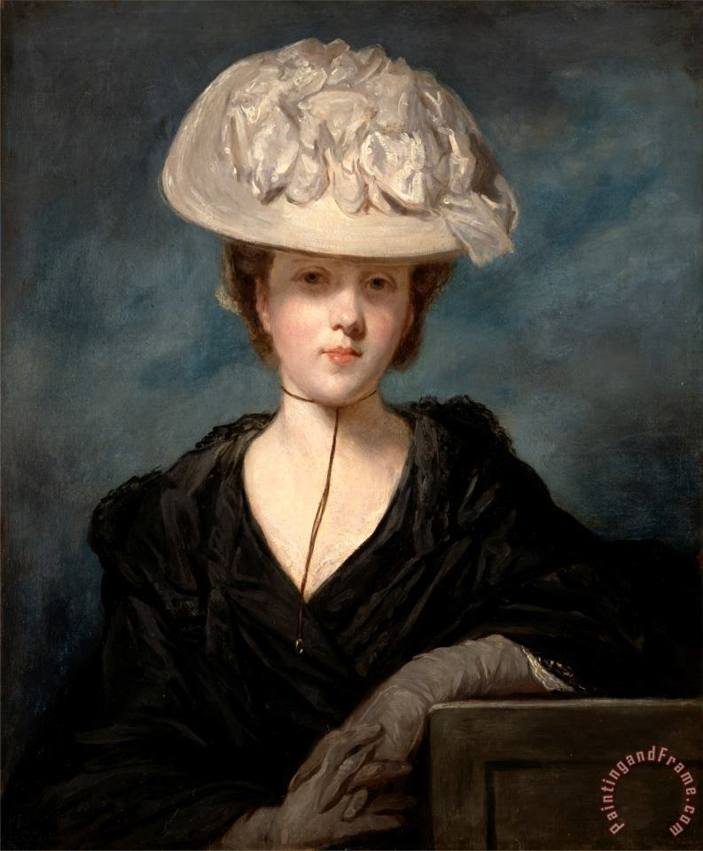 Sir Joshua Reynolds Miss Mary Hickey Painting - Painting And Frame