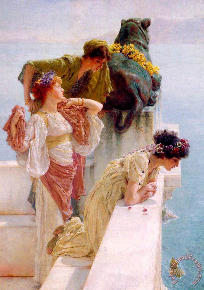A Coign of Vantage Left painting - Sir Lawrence Alma-Tadema A Coign of Vantage Left Art Print