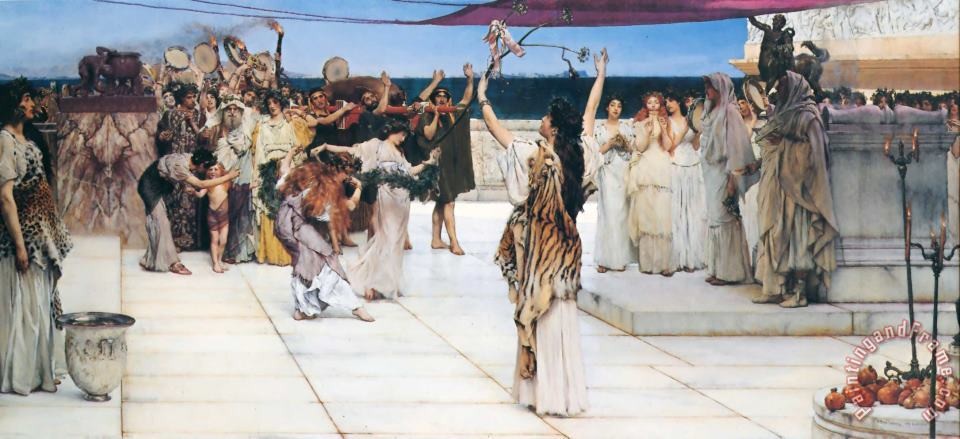 Sir Lawrence Alma-Tadema A Dedication to Bacchus Art Painting