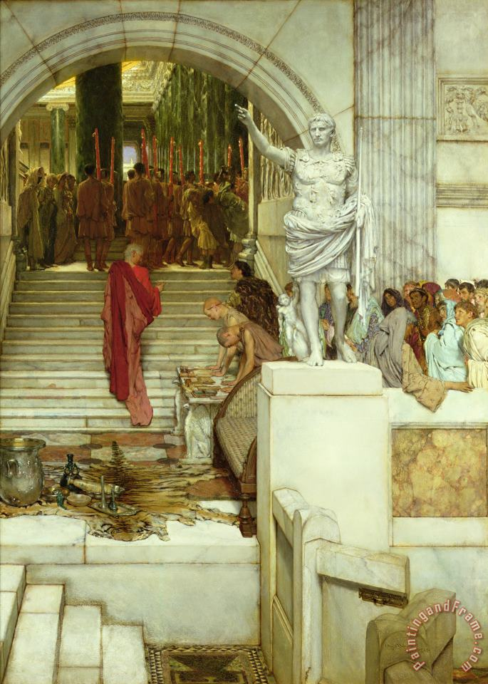 After the Audience painting - Sir Lawrence Alma-Tadema After the Audience Art Print