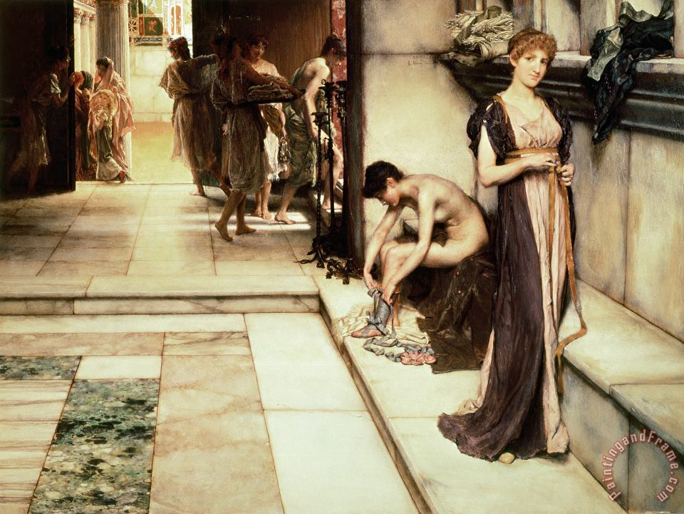 Sir Lawrence Alma-Tadema An Apodyterium Art Painting