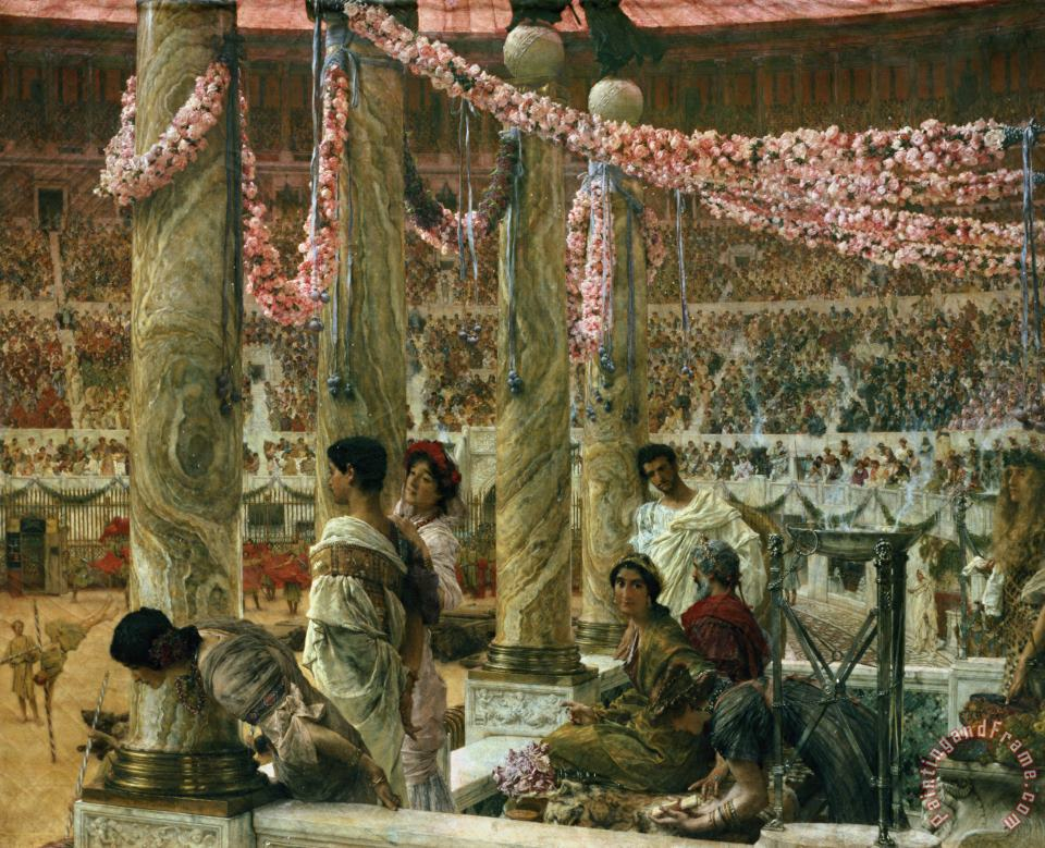 Sir Lawrence Alma-Tadema Caracalla and Geta Art Painting