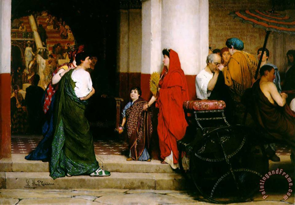 Entrance to a Roman Theatre painting - Sir Lawrence Alma-Tadema Entrance to a Roman Theatre Art Print