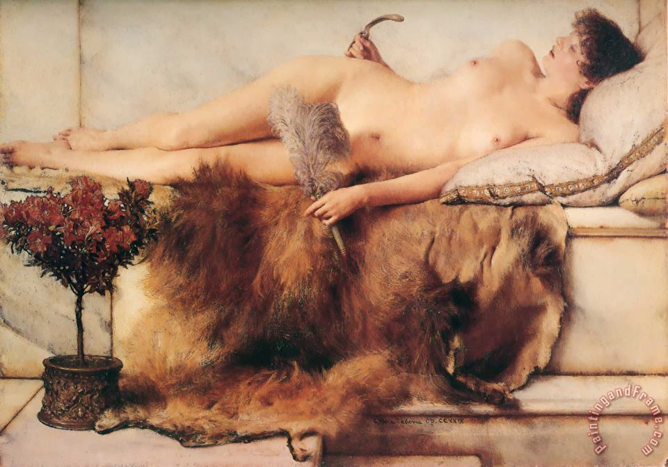 Sir Lawrence Alma-Tadema In The Tepidarium Art Print