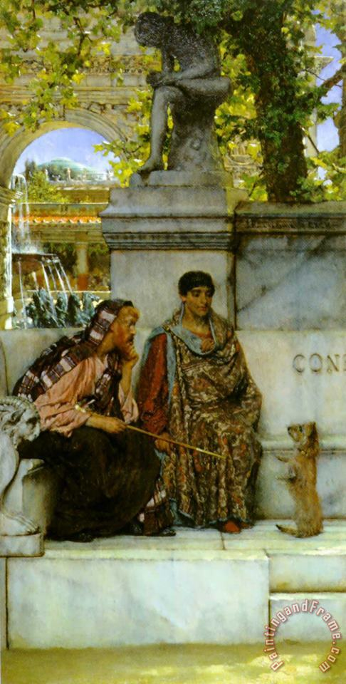 In The Time of Constantine painting - Sir Lawrence Alma-Tadema In The Time of Constantine Art Print