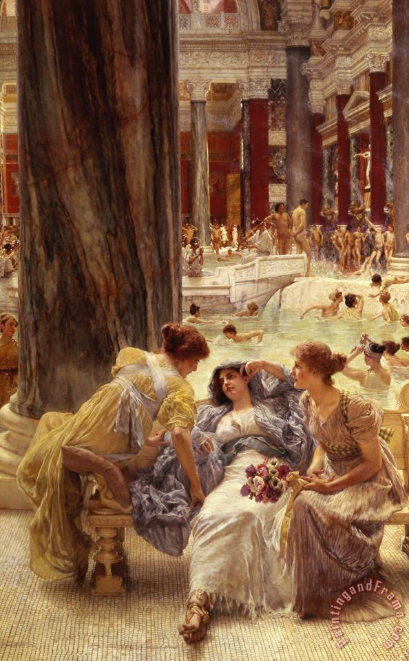 The Baths of Caracalla painting - Sir Lawrence Alma-Tadema The Baths of Caracalla Art Print