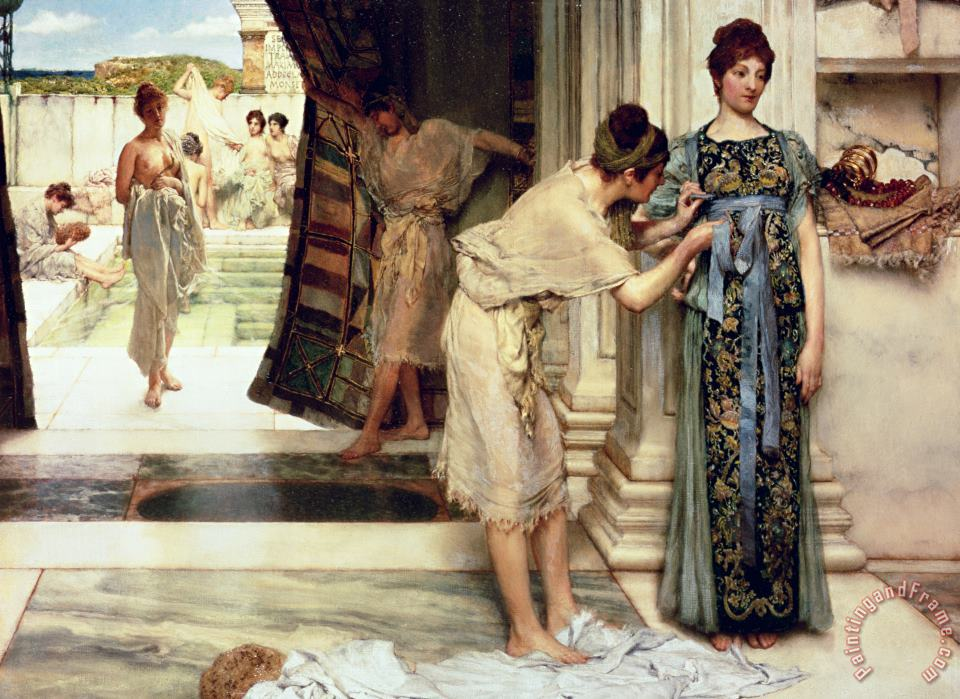The Frigidarium painting - Sir Lawrence Alma-Tadema The Frigidarium Art Print