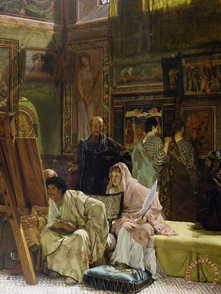 The Picture Gallery painting - Sir Lawrence Alma-Tadema The Picture Gallery Art Print