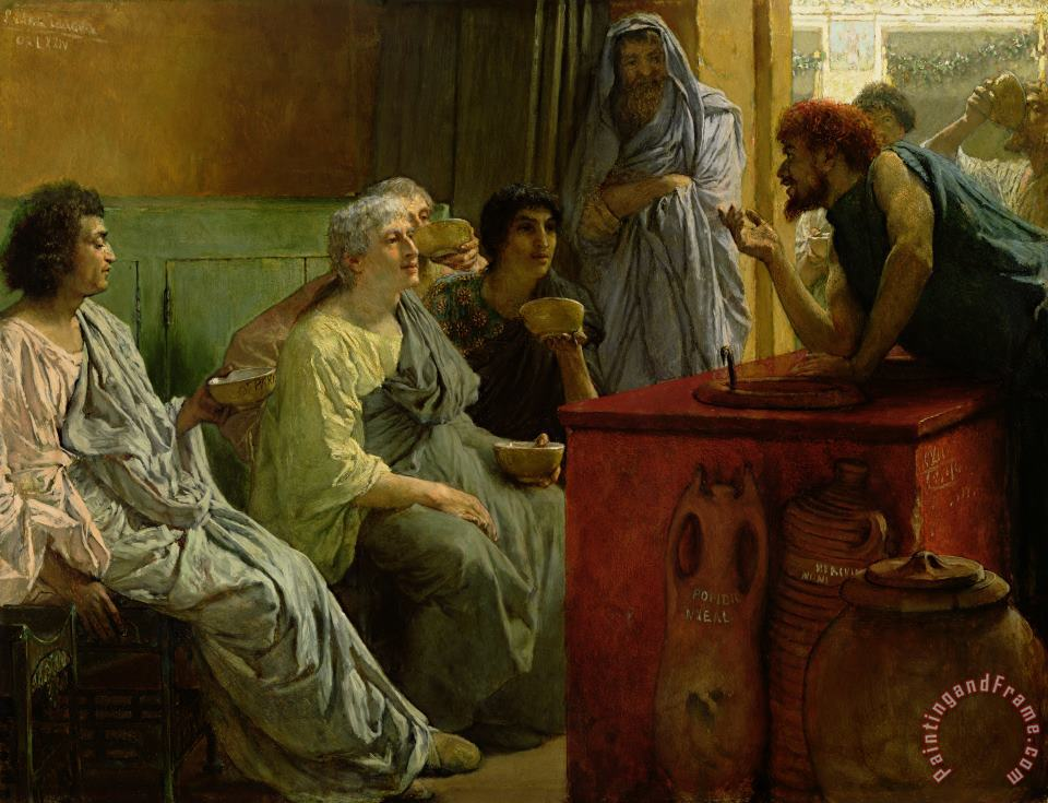 The Wine Shop painting - Sir Lawrence Alma-Tadema The Wine Shop Art Print