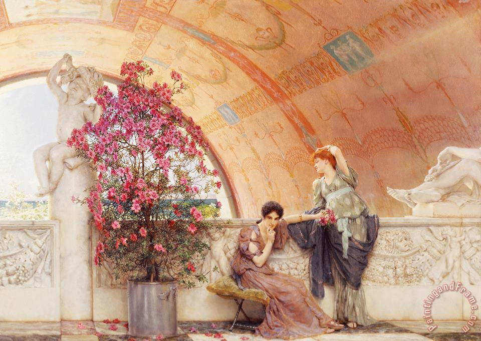 Unconscious Rivals painting - Sir Lawrence Alma-Tadema Unconscious Rivals Art Print