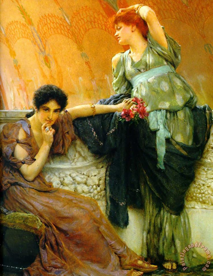 Unconscious Rivals Detail painting - Sir Lawrence Alma-Tadema Unconscious Rivals Detail Art Print