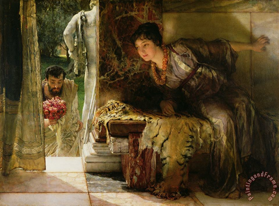 Welcome Footsteps painting - Sir Lawrence Alma-Tadema Welcome Footsteps Art Print