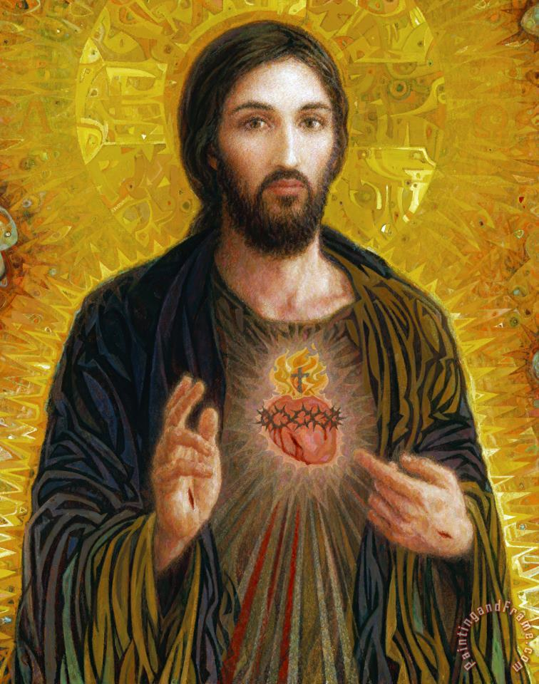 Sacred Heart of Jesus painting - Smith Catholic Art Sacred Heart of Jesus Art Print