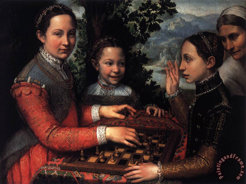 The Chess Game painting - Sofonisba Anguissola The Chess Game Art Print