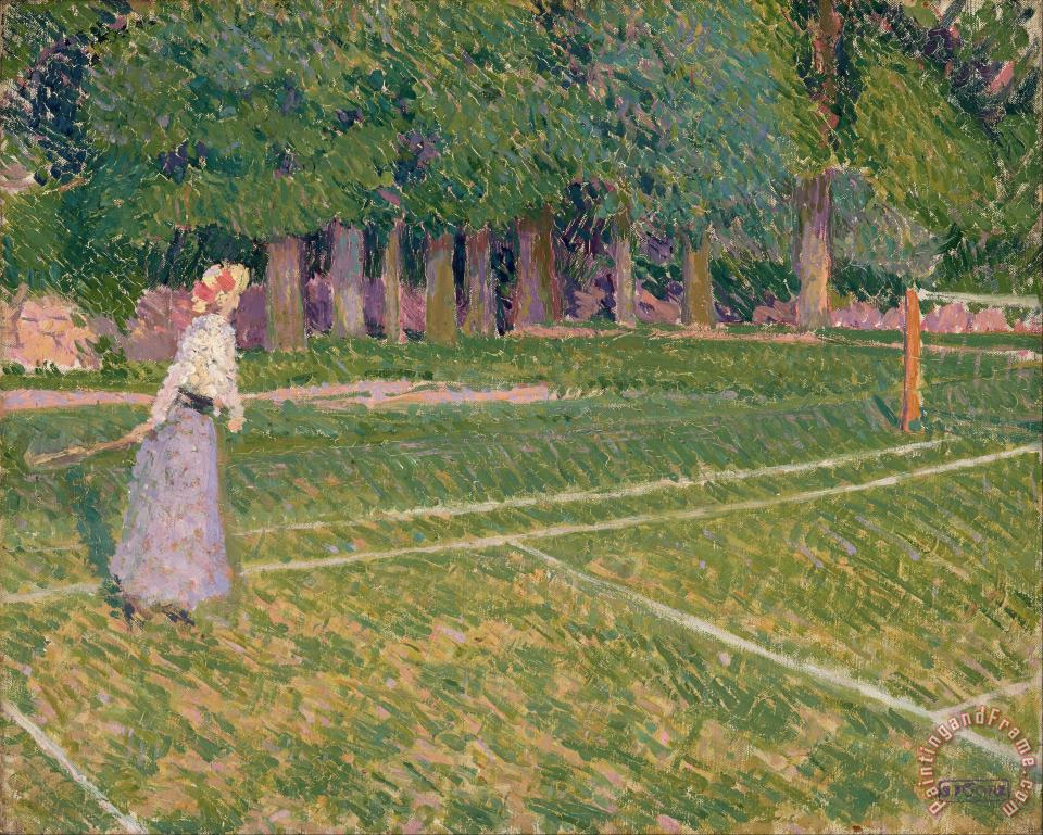 Spencer Frederick Gore Tennis at Hertingfordbury Art Painting