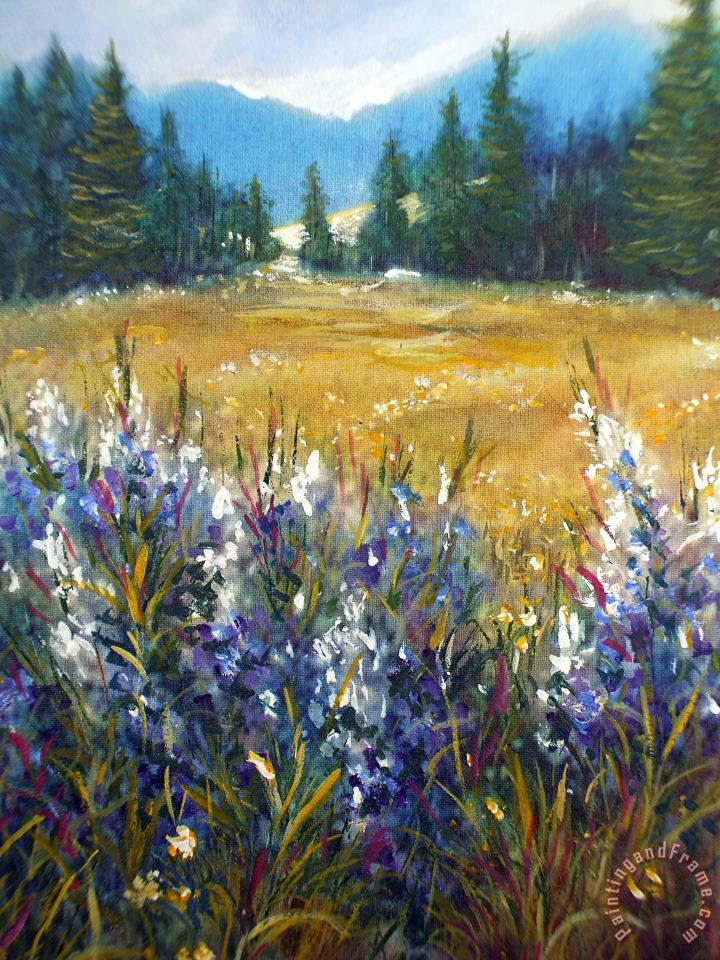 Sierra Meadow painting - Steven Mills Sierra Meadow Art Print